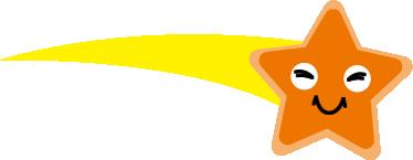 オレンジの星の画像